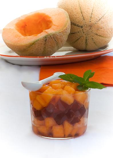 Melone al Porto? Si, in tartare con gelatina!