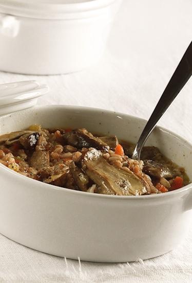 Zuppa di farro e porcini