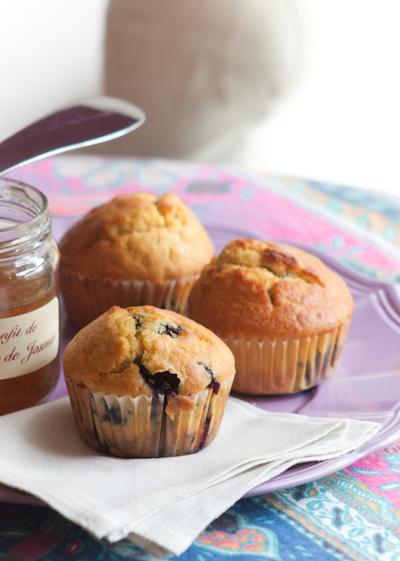 Muffin ai mirtilli e limone