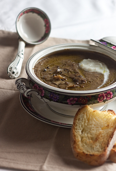 Zuppa di lenticchie, cavolfiore e tartufo nero