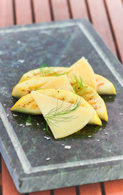 Melone alla griglia con caciocavallo