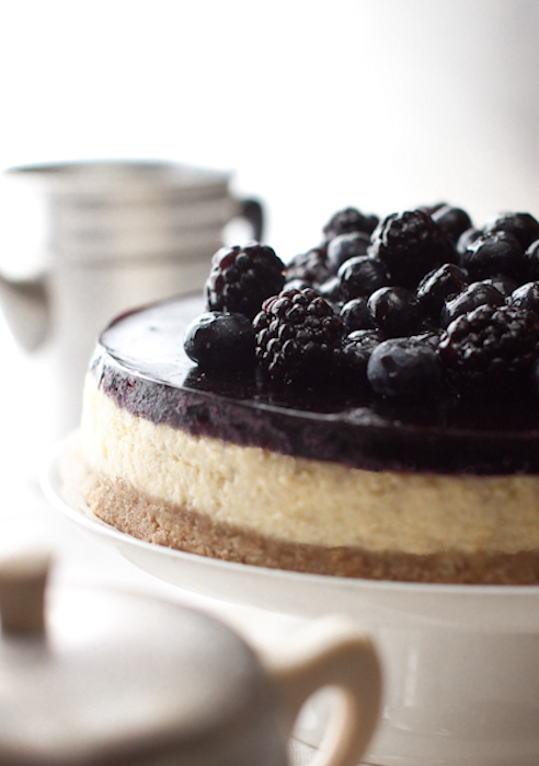 Cheesecake blu