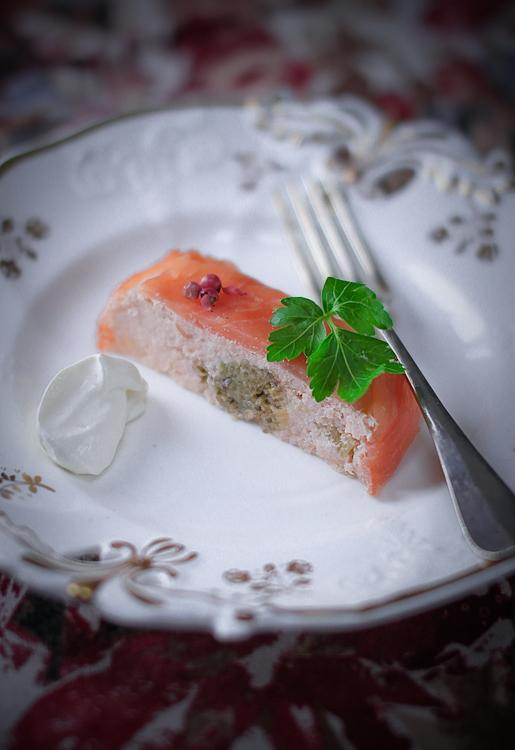 Terrina di salmone con cuore di verza