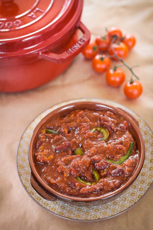 Chili con carne in cocotte